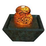 Шифер 6 дюймов & стеклянный крытый Tabletop фонтан