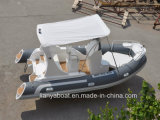 Liya 19ft Red Rigid Inflável Rib Boat com motor fora de borda