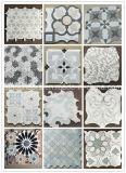 Waterjet van het Blad van Carrara van Bianco Marmeren Marokkaans Mozaïek