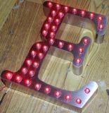 3D LEDポイントライトによって露出される鋼鉄経路識別文字の印の広告