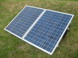 складывая панель солнечных батарей 80W для располагаться лагерем с поддерживая ногами