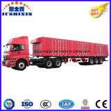 閉鎖半ボックストレーラーのタンデム車軸重いトラクターのトラックの貨物ユーティリティトレーラー