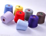 100% ha tinto il filo di cotone/filato riciclato cotone del poliestere per il lavoro a maglia di tessitura