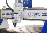 Machine de découpage d'aluminium d'Ele 9015, annonçant le couteau en bois de commande numérique par ordinateur de porte de 4 axes avec des certificats de la CE