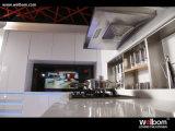 Бесплатный образец белого цвета High Gloss Smart LED кухонным шкафом