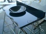 Bovenkant/Countertops van de Ijdelheid van het Graniet van de Steen van de decoratie de Materiële Natuurlijke Absolute Zwarte voor Keuken/Badkamers
