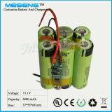 11.1V 6800mAh Li-Ionbatterie-Satz mit 6 Zellen (Micians)