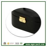 2017 Hot vender duas camadas de couro Redonda Caixa de jóias