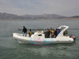 Liya 8.3m Hypalonの肋骨のボートのセリウムが付いている贅沢なヨットのスポーツの膨脹可能なボート