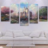 HD ha stampato il manifesto della stampa della decorazione del salone di arte della parete della pittura del castello di Cinderellas di arte della tela di canapa di parte 5