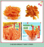 Yummy Snack van het Huisdier van de Strook van de Kip van het Kristal van het Voedsel Schokkerige Verdraaide