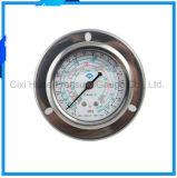 冷凍または圧力計の2.5inches振動証拠のステンレス鋼の圧力計
