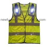 Maglia riflettente infiammante dell'alta di visibilità del LED della maglia maglia dell'OEM