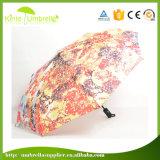 Baixo guarda-chuva da dobra da impressão 3 de MOQ Digitas para o anúncio relativo à promoção
