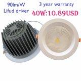 UL RoHS Lifud approvato Drvier Dimmable o Non-Dimmable 10W~50W LED Downlight di TUV con una garanzia da 3 anni