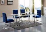 椅子を食事するクッションのステンレス鋼のCarmenoのパッドを入れられ、快適なビロード