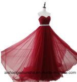 Eine Zeile Abend-Kleid-Fußboden-Längen-Partei-Abschlussball-Kleid