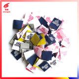 China-Kleid-Zubehör-beste Qualitätsbaumwoll-Polyester-Gewebe gesponnener Kennsatz 100%