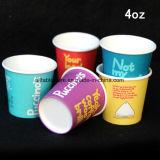 4 onzas de café el logo impreso desechables vasos de papel
