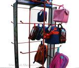 Супермаркет полки магазина несколько висящих крюки детей в школу Bag дисплей для установки в стойку