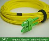 Sc APC Sm 쌍신회로 3.0mm 광섬유 패치 케이블