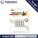 nachladbare des Nickel-1.2V Batterie Metallhydrid-China-Fatory (HR03-AAA 1100mAh)