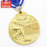 Medaglia dorata di plastica del metallo di effetto placcata oro su ordinazione caldo 3D di sport di vendita
