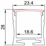 8mm, 10mm 12mm leiden van het breedteAluminium profiel voor LEIDEN strooklicht