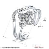 De goud Geplateerde Juwelen van de Manier van de Ring van het Zirkoon Open voor Meisjes