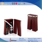 Imitation cuir transporter pour 2 bouteilles de vin (5501)