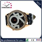 Het Materiële Horloge van het Geval van de legering met het Echte Horloge van de Dames van het Leer