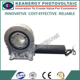 Movimentação solar do giro do sistema de seguimento do ISO 9001/Ce/SGS com motor da engrenagem