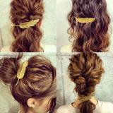 4 Cores Design foliar Punk jovem mulher o pino presilha de cabelo Acessórios Barrettes Garra