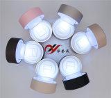 Caixa de anel de couro PU colorido com luz de vídeo e Spot
