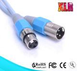Mâle en gros de câble de microphone de Pin XLR d'OEM 3 au mâle M/M