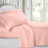 precio de fábrica conjuntos de ropa de cama Sábanas de algodón blanco (HDM041)