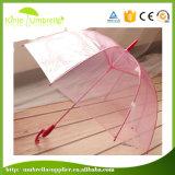 Paraguas transparente del regalo promocional recto abierto automático de los paraguas