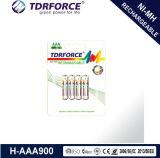 Longue batterie de durée de vie de nickel d'hydrure rechargeable en métal avec du ce pour le jouet (AAA/HR03)