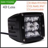 크리 사람 16W 4 LED 일 빛 12V ATV 배 지프 트럭 SUV 4WD ATV UTV 차량 램프