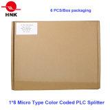 2*32 micro tipo codificato colore divisore ottico del PLC della fibra