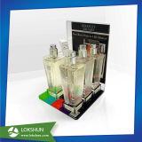 Visualización cosmética de acrílico tablero de la visualización del producto de cuidado de piel