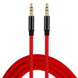 3.5mm General Anti-Oxidation Nylon Because With the Audio Cables (red)