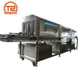 Machine à laver en plastique chauffée à la vapeur automatique de rondelle de caisse de plaque de cadre de panier