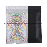 De vlotte Zwarte Verpakkende Zakken van Mylar van de Folie van Zakken Resealable Hoogste