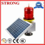 Luz de advertência instantânea solar para o guindaste de torre da construção