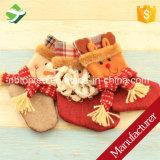calza d'attaccatura del pupazzo di neve del Babbo Natale dei calzini di natale 5PCS la mini insacca il regalo di natale
