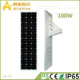 100W tout dans les produits solaires Integrated solaires d'un réverbère
