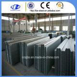 電流を通された橋床の波形の鋼板