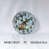 La nueva llegada a casa de cristal Decoración Reloj de pared con la impresión en papel