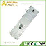 Câmera sem fio Integrated ao ar livre do IP da segurança de WiFi da potência solar com luz de rua do diodo emissor de luz